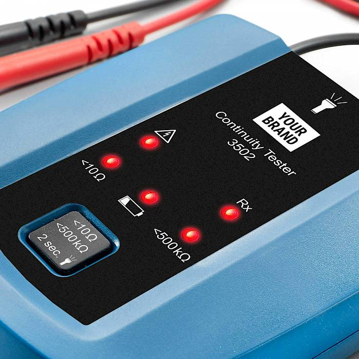 Advanced continuity tester with torch light detail